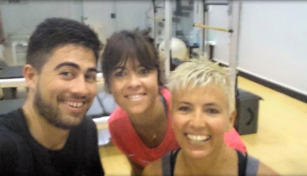 La cantante Vanesa Martín entrena en Gimnasio Atenas